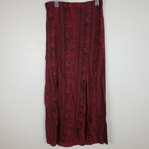 Billabong Maroon Maxi Skirt w/ Slits